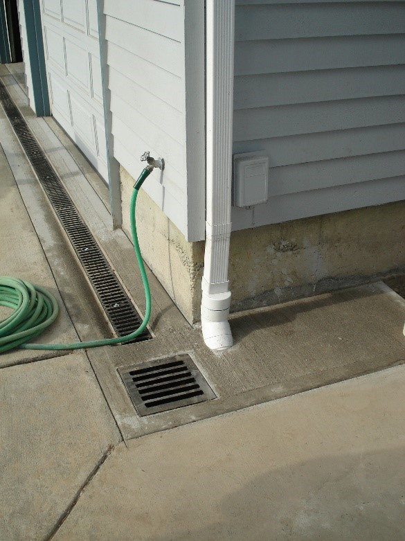 Strip drain, catch basin, and roof drain system