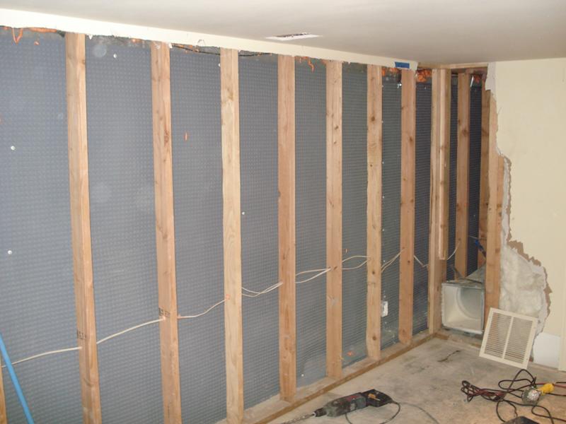 Basement foundation wall moisture barrier perma dry - Exterior basement wall insulation ...