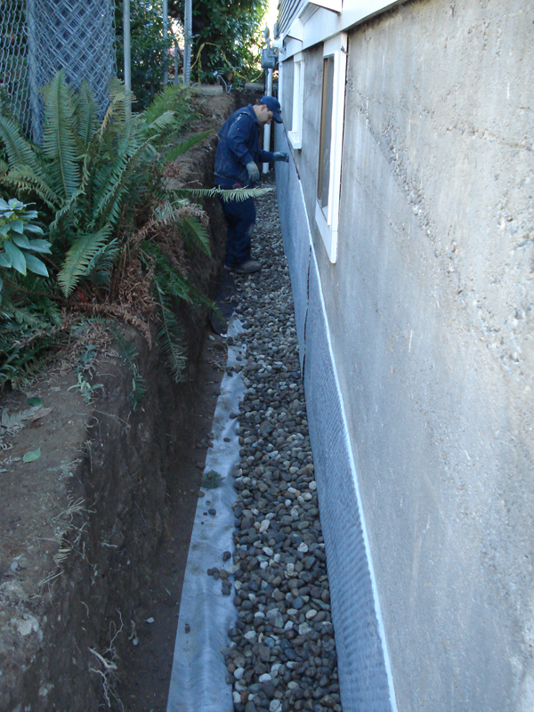 Wet basement repair in seattle and tacoma perma dry for Exterior drainage solutions